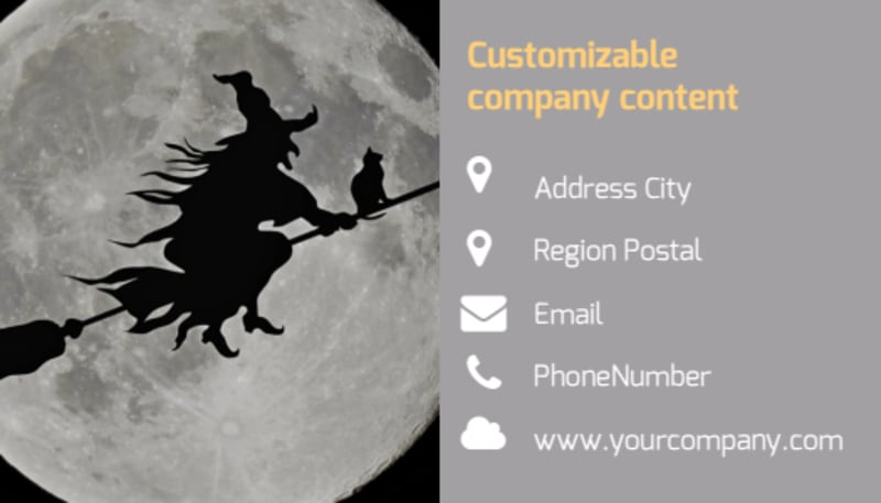 Halloween Party Business Card Template Preview 3