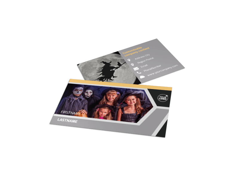 Halloween Party Business Card Template Preview 1