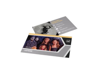 Halloween Party Business Card Template preview