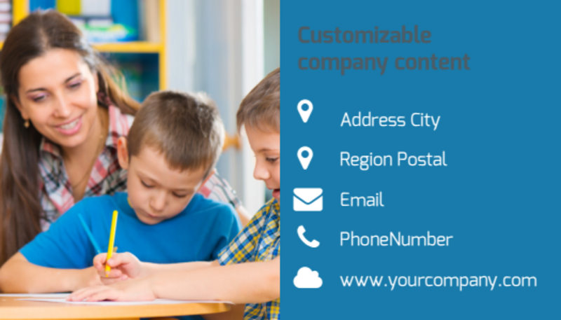 Child Development Business Card Template Preview 3