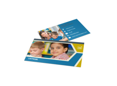 Child Development Business Card Template