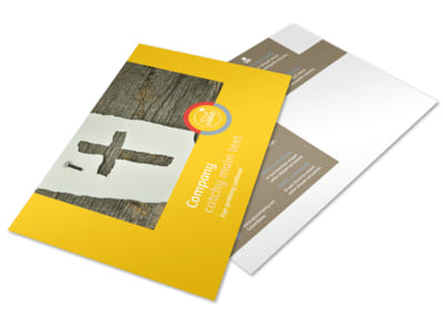 Church Ministry & Youth Group Postcard Template preview