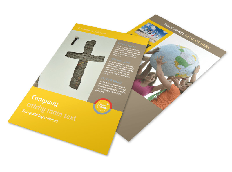 Church Ministry & Youth Group Flyer Template 3