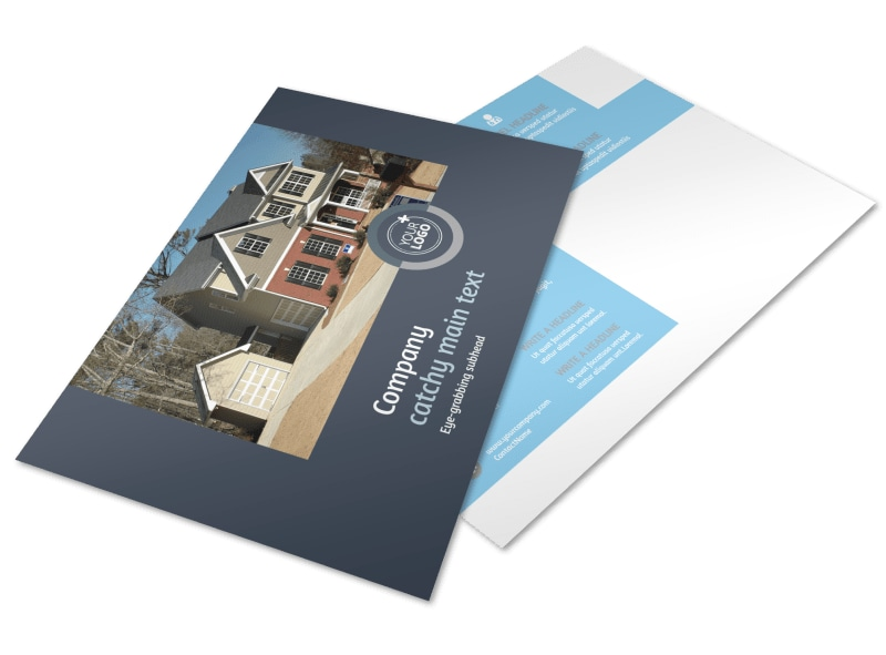 Residential Real Estate Agent Postcard Template
