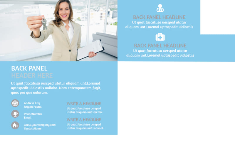 Residential Real Estate Agent Postcard Template Preview 3