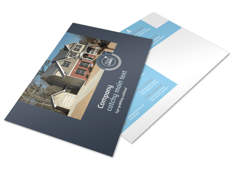 Residential Real Estate Agent Postcard Template Preview 1