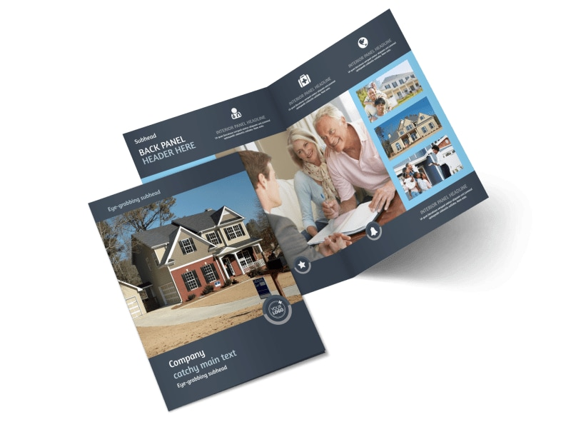 Residential Real Estate Agent Bi-Fold Brochure Template 2