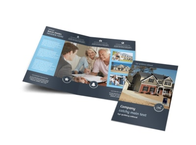 Residential Real Estate Agent Bi-Fold Brochure Template
