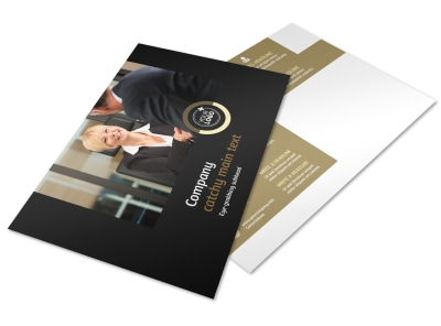 Insurance Defense Law Firm Postcard Template preview