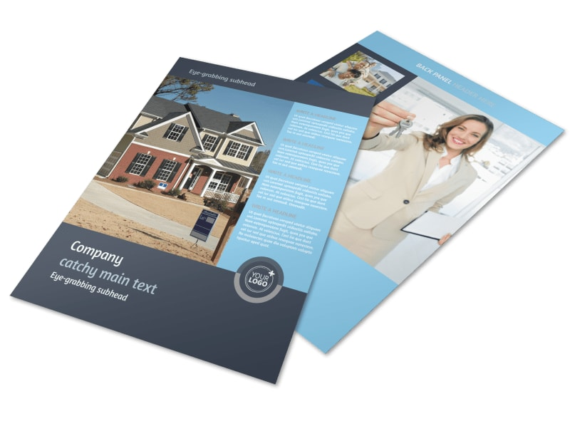 residential real estate agent flyer template mycreativeshop