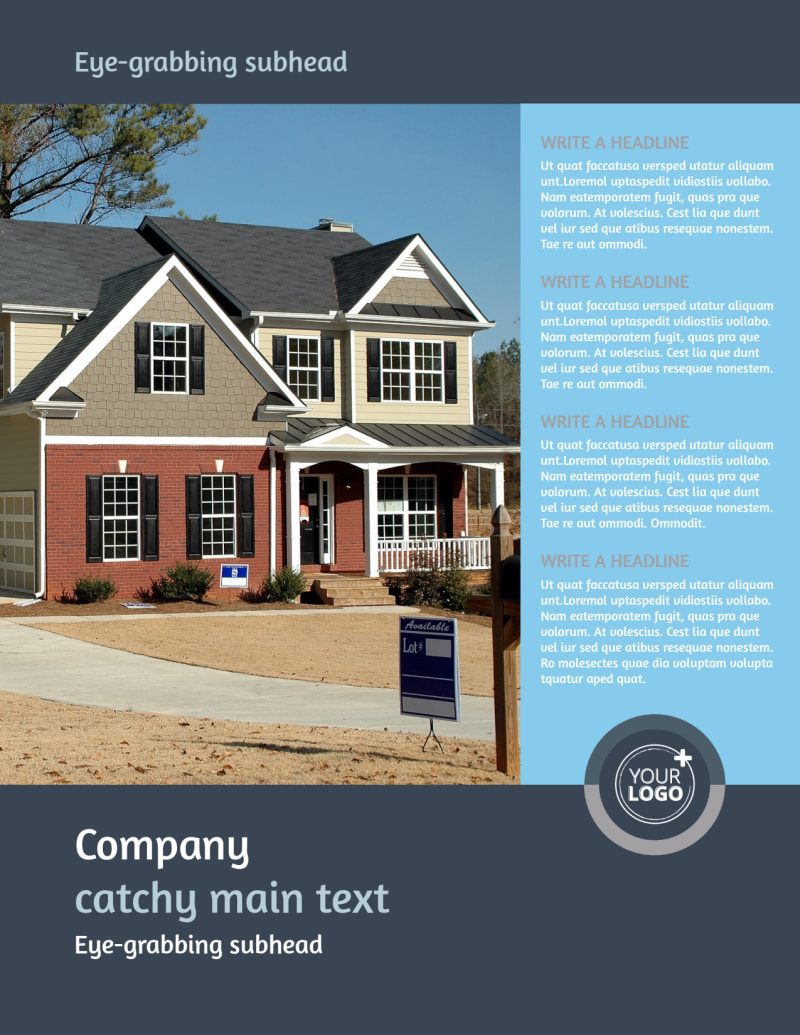Residential Real Estate Agent Flyer Template Preview 2