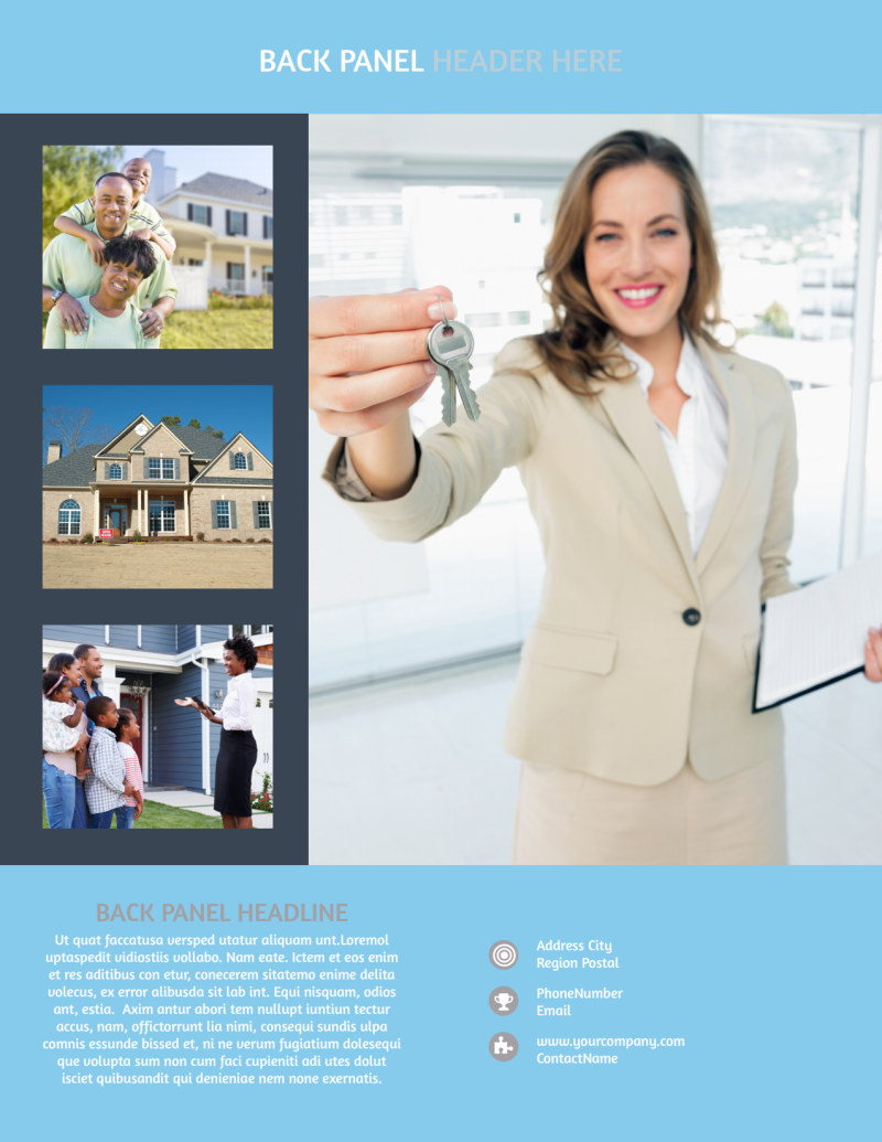Residential Real Estate Agent Flyer Template Preview 3