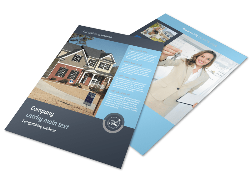 Residential Real Estate Agent Flyer Template Preview 1