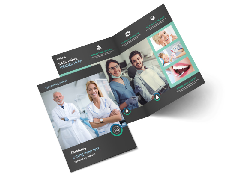 Elite Dental School Bi-Fold Brochure Template 2
