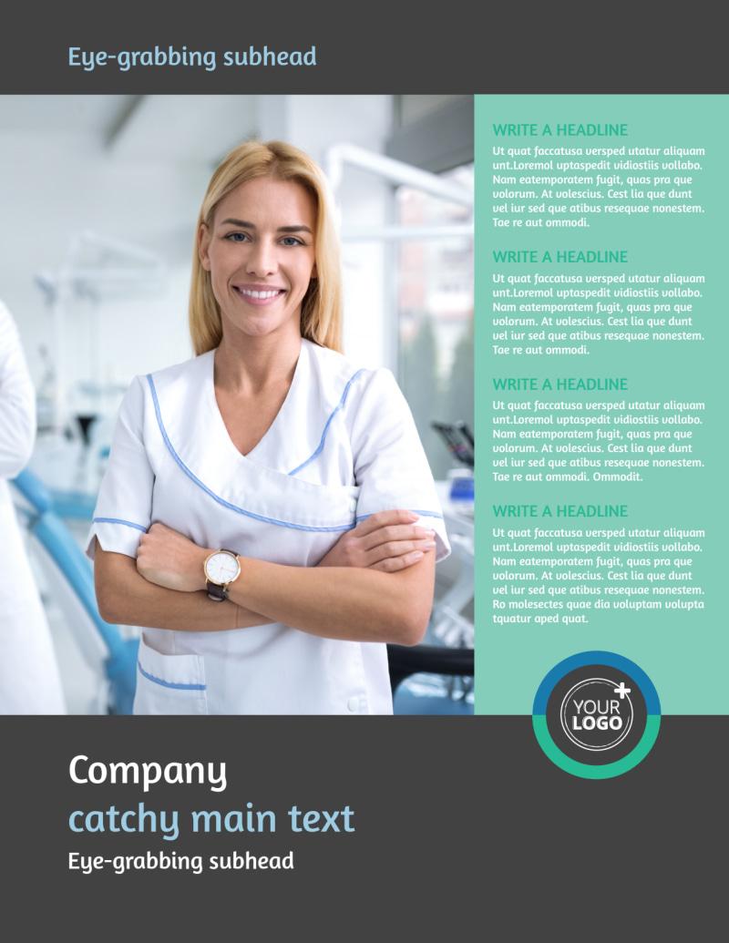 Elite Dental School Flyer Template Preview 2