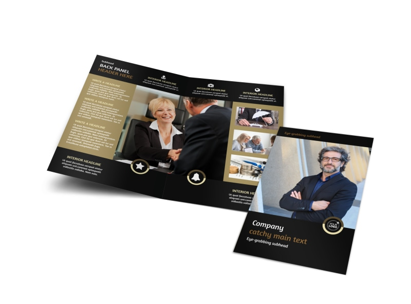 Insurance Defense Law Firm Bi-Fold Brochure Template