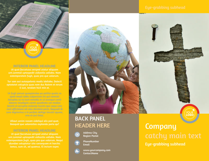 Youth Ministry Brochure Template Preview 2