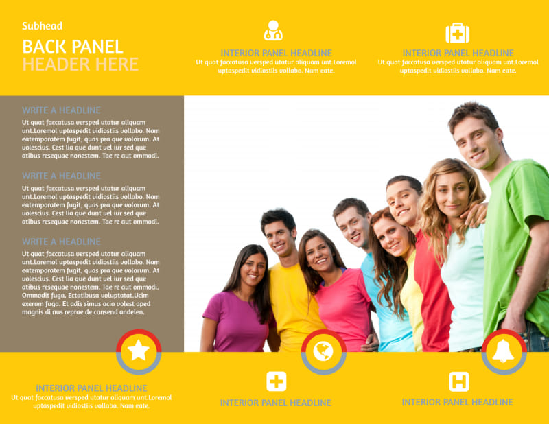 Youth Ministry Brochure Template Preview 3