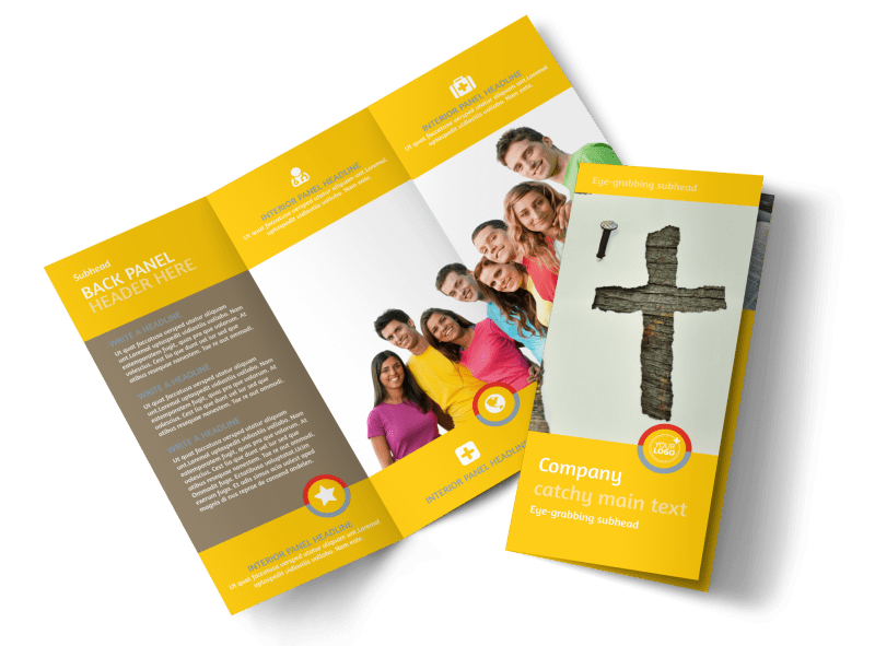 Youth Ministry Brochure Template Preview 1