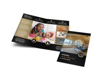Carpet Cleaning Service Bi-Fold Brochure Template