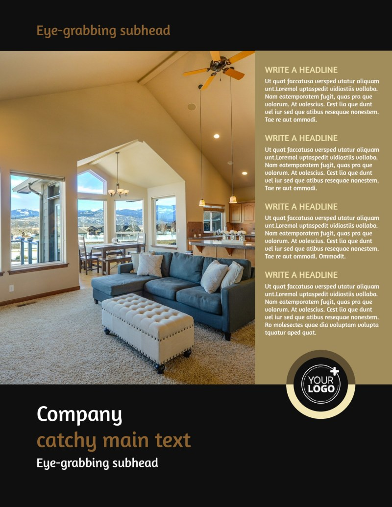 Carpet Cleaning Service Flyer Template Preview 2