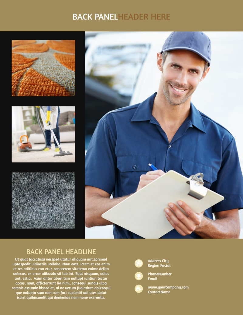 Carpet Cleaning Service Flyer Template Preview 3
