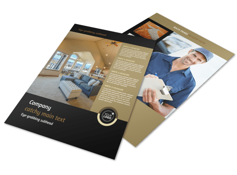 Carpet Cleaning Service Flyer Template Preview 1