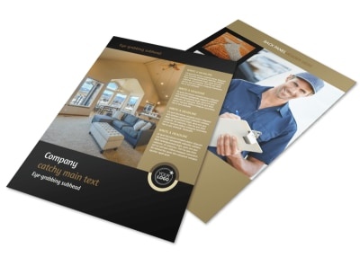 Carpet Cleaning Service Flyer Template preview