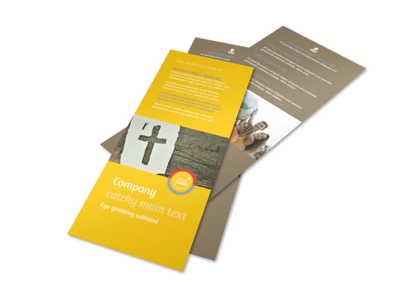Church Ministry & Youth Group Rack Card Template 2
