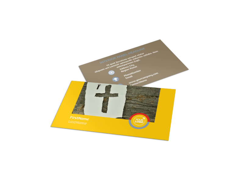 Youth Ministry Business Card Template Preview 1