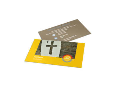 Church Ministry & Youth Group Business Card Template preview