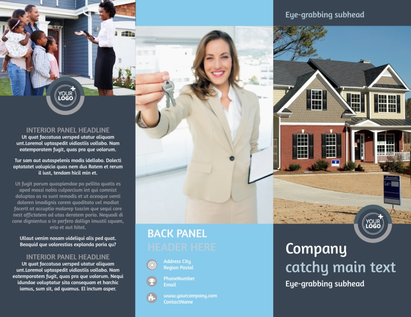 Residential Real Estate Agent Brochure Template Preview 2