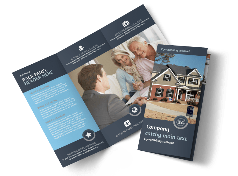 Residential Real Estate Agent Brochure Template Preview 1