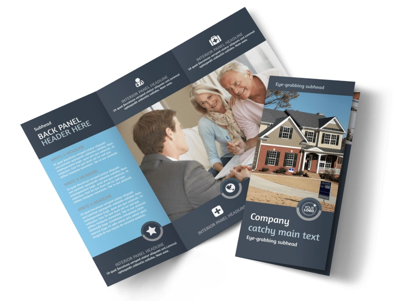 Residential Real Estate Agent Brochure Template MyCreativeShop - Real estate brochure templates