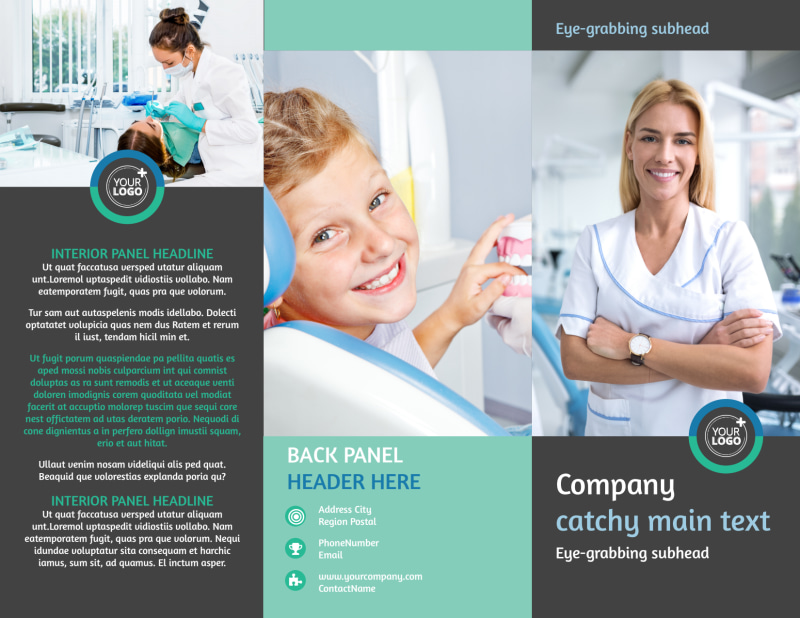Elite Dental School Brochure Template Preview 2