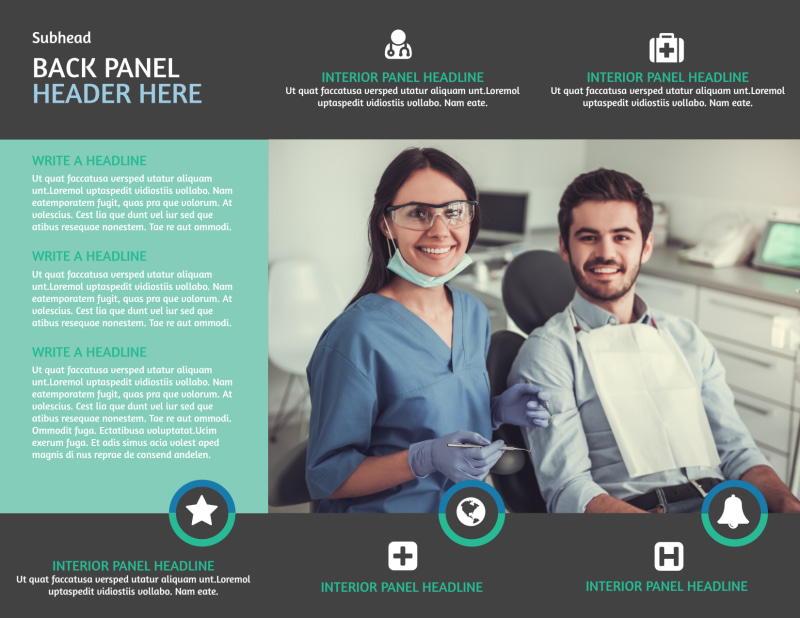 Elite Dental School Brochure Template Preview 3