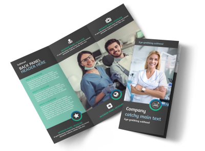 Elite Dental School Tri-Fold Brochure Template