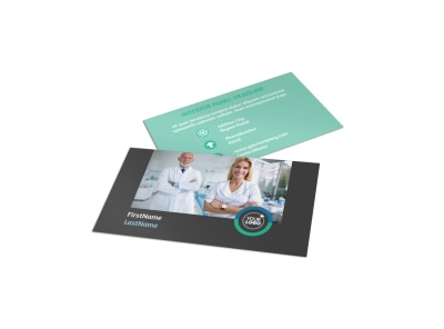 Elite Dental School Business Card Template preview