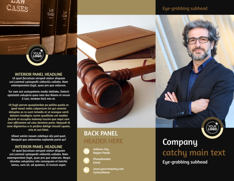 Insurance Defense Law Firm Brochure Template Preview 2