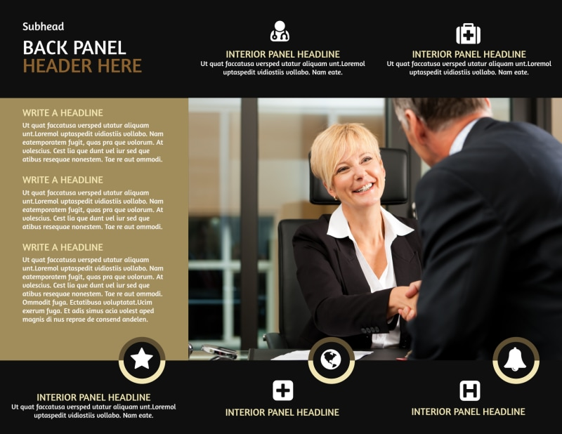 Insurance Defense Law Firm Brochure Template Preview 3