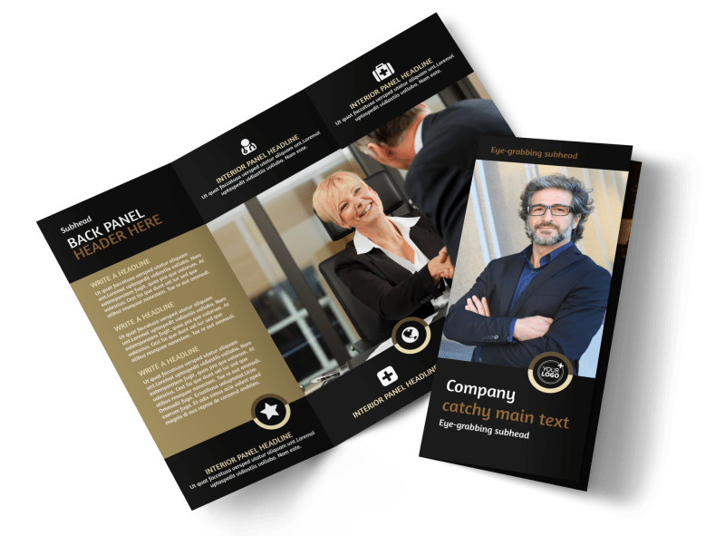 Insurance Defense Law Firm Brochure Template Preview 1