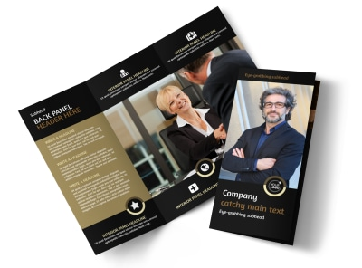 Insurance Defense Law Firm Tri-Fold Brochure Template preview