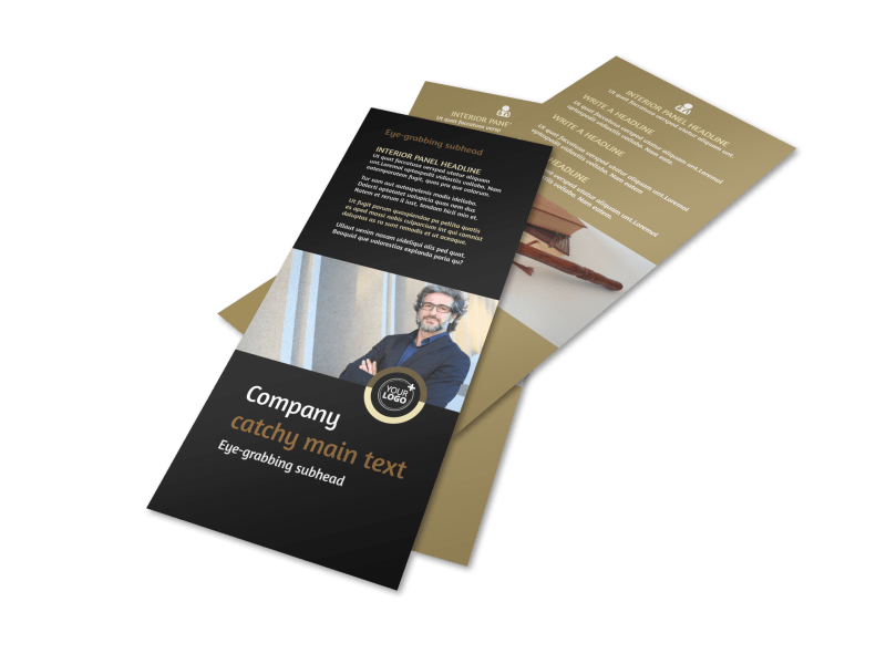 Insurance Defense Law Firm Flyer Template Preview 1