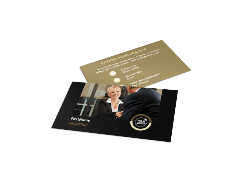 Insurance Defense Law Firm Business Card Template Preview 1