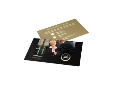 Insurance Defense Law Firm Business Card Template preview