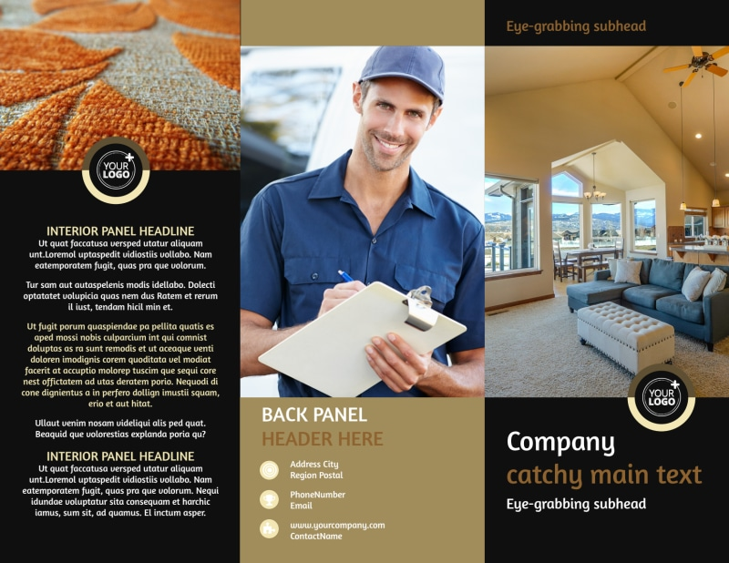 Carpet Cleaning Service Brochure Template Preview 2