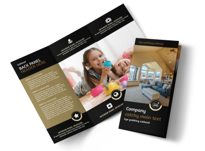 Carpet Cleaning Service Tri-Fold Brochure Template