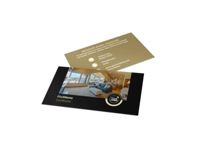 Carpet Cleaning Service Business Card Template
