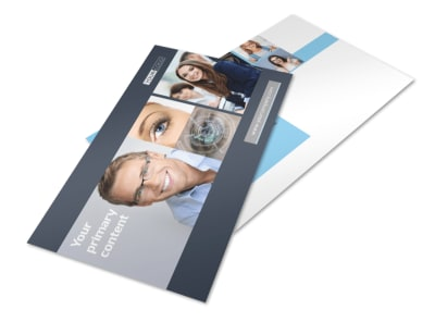 Vision care Postcard Template 2