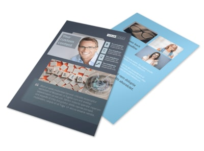 Vision care Flyer Template 3